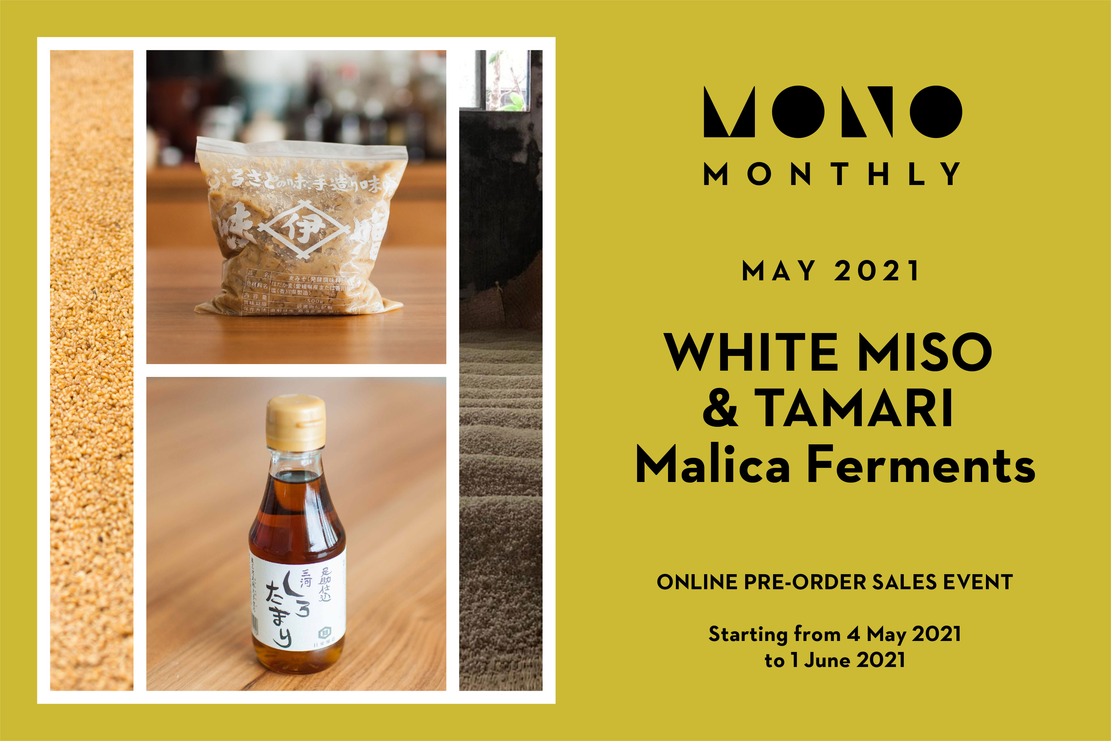 Mono Monthly White Miso and Tamari by Malica Ferments